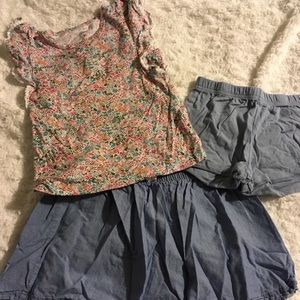 Carter's Matching Sets - Lot of 3 Skirt Outfits